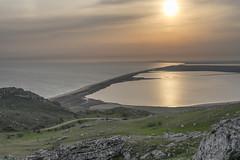 Opuk national reserve. Crimea. (Khuroshvili Ilya) Tags: opuk crimea beack lake sea sand sunset reflection sun landscape outdoor mountains reserve outdoors spring nature