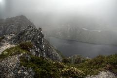 Crater Peak Lookout (pbr42) Tags: australia tasmania nationalpark cradlemountain cradlemountainnationalpark outdoor cloud overcast landscape nature lake water h2o mountain hdr