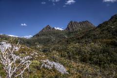 Cradle Mountain (pbr42) Tags: australia tasmania nationalpark cradlemountain cradlemountainnationalpark outdoor sky hdr landscape nature mountain trees