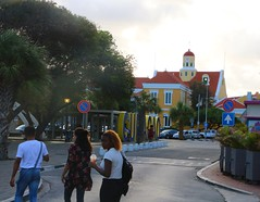 The adventures of The Legend, The Hippy and The Diva... (rxmerwxl) Tags: teenagers teens legend walking journey kimono hippy diva road crossing house yellow curacao willemstad street