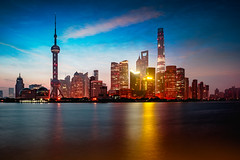 Shanghai city skyline in the morning with reflection, Shanghai China (Patrick Foto ;)) Tags: architecture asia attraction beautiful building business central china chinese city cityscape copyspace district downtown dusk evening famous finance financial huangpu landmark light lujiazui metropolis modern morning night office oriental panorama pearl place pudong reflection river scene shanghai sky skyline skyscraper tall tourism tower travel twilight urban view vintage water waterfront shanghaishi cn