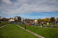 #POP2018  (171 of 230) (Philip Gillespie) Tags: pedal parliament pop pop18 pop2018 scotland edinburgh rally demonstration protest safer cycling canon 5dsr men women man woman kids children boys girls cycles bikes trikes fun feet hands heads swimming water wet urban colour red green yellow blue purple sun sky park clouds rain sunny high visibility wheels spokes police happy waving smiling road street helmets safety splash dogs people crowd group nature outdoors outside banners pool pond lake grass trees talking bike building sport