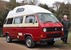 BJA 411Y (Nivek.Old.Gold) Tags: 1983 volkswagen transporter leisuredrive lowline camper 1600cc diesel t3 hh