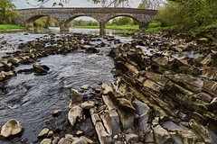 Bedrock and the Bridge (scottprice16) Tags: england lancashire riverribble ribblevalley bridge westbradford stone rock geology limestone bedrock colour outdoors canon powershot canong1xmarkii spring may 2018