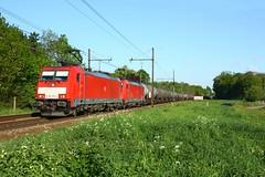 DB Cargo 186 333 en 340 met trein 47061 (Peter Gootzen) Tags: db dbcargo dbschenker dbc dbs 186 br186 baureihe186 traxx ecr 47061 ketelwagentrein