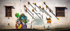 Penang street art (Georges Nader) Tags: art asia cigratets georgetown malaysia muralpainting penang seasia southeastasia street streetart streetphotography travel wall wallpaiting windows pulaupinang my