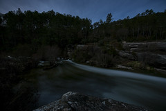 Descending the channel. (Esgarmont) Tags: moon channel riverbed forest night nightly
