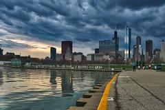 Gathering Storm (BlinkOfALens) Tags: chicago cityscape storm illinois us sunset