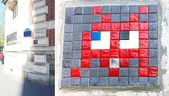 Space invader [Paris 8e] (biphop) Tags: europe france paris streetart space invader spaceinvader mur wall installation mosaic mosaique 75008 pa268 reactivated reactivation restored restauré