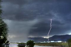 Spring Lightning (livininfrostytown) Tags: lightning ogden utah ogdenairport airport dust highwind loudthunder brightlghtning sunset evening weather charmedimpressions may spring 2018