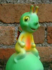 Caterpillar Rider (The Moog Image Dump) Tags: caterpillar rider vintage squeaker squeaky toy figure push wheels cute kawaii