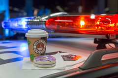 Coffee to go and donuts on a police car (marcoverch) Tags: cosplay cologne rpc roleplayconvention köln roleplay rollenspiele policecar coffeetogo noperson keineperson car auto vehicle fahrzeug blur verwischen indoors drinnen business geschäft transportationsystem transportsystem coffee kaffee technology technologie travel reise street strase competition wettbewerb fast schnell light licht race rennen autoracing autorennen action aktion city stadt one ein hot heis noiretblanc eau australia aircraft europe nyc texture abandoned coth5