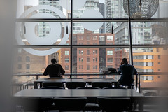 High Level Meeting (cookedphotos) Tags: 2018inpictures toronto ontario canada ca canon 5dmarkiv streetphotography cineplex scotiabank theatre bar work windows urban city high view 365project p3652018