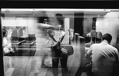 what's the pressure? (ElBiSt (Bianca Stoicheci)) Tags: railway antwerpenstad antwerpencentraal people street streetphotography blackandwhitestreetphotography bwstreetphotography belgium antwerpen train life mono