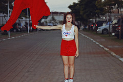 Cherry Coke (TheJennire) Tags: photography fotografia foto photo canon camera camara colours colores cores light luz young tumblr indie teen flashphotography cherrycoke 2018 50mm red outfit ootd forever21 lookbook 90s retro makeup hair portrait girl redlips cropped skirt