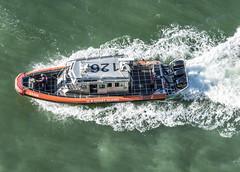 Looking Down on the Coasties (dcnelson1898) Tags: travel vacation cruise hollandamericaline oosterdam ship atlanticocean mediterraneansea fortlauderdale florida coastguard protection boat