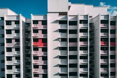 HDB (hackdragon) Tags: hdb apartment block flat leica q typ 116 grade color symmetry but symmetrical daylight shadow highlight angle architecture sg singapore 99 years wish was freehold