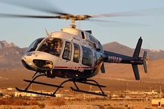 Bell 407 N150AM @ Pahrump (Heliexperte) Tags: helicopter hubschrauber aviation air las vegas bell ems hems rescue