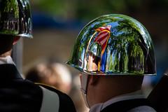 Color Guard (maberto) Tags: bailey d7200 nevada nikon reno unr graduation ©bradmaberto chrome reflection distortion americanflag trees colorguard