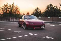 IMG_4449 (tom_acton) Tags: mazda mx5 eunos roadster red sparkle 3m cinder fifteen52 formula tr low sportscar jdm japanese sunset