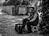 Street 530 (`ARroWCoLT) Tags: bnwdemand bnw bnwstreet people streetart istanbul türkiye türkei turkey street sokak outdoor siyahbeyaz art bw blackwhite monochrome blackandwhite arrowcolt shadow ishootpeople streetphotography bootblack shoerepair nxmini samsungcamera