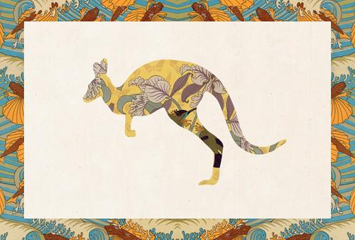 Carte postale // 10x15cm // Kangourou