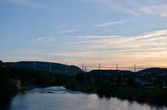 Millau (Viaduc de Millau) - 11/05/18 (Jérémy P.) Tags: viaduc millau viaducdemillau tarn aveyron occitanie pont crépuscule fleuve eau