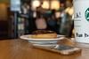 Doughnut + Black Tea (AllanAnovaPhotos) Tags: starbucks maka makati philippines doughtnut tea blacktea black