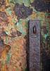 Hasp (Alistair-Hamilton) Tags: paint rust porterin corrosion flaking isleofman door