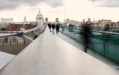 Millennium Bridge - Slow Shutter Speed Practice (chris.lysyj) Tags: photography practice shutter speed shutterspeed london landscape stpauls cathedral bridge tourist tourism