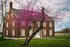 Redbud at West Family Sisters' Shop (sniggie) Tags: built1845 kentucky mercercounty pleasanthill shakervillageofpleasanthill shakers utopianexperiments redbud redbudblossom shakervillage spring nationalregisterofhistoricplaces building easternredbudtree