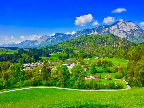 Tyrolean landscape in Spring near Kufstein, Austria