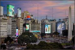 Microcentro (Totugj) Tags: nikon d5100 punto obelisco microcentro buenosaires argentina atardecer urbanscape urbanismo urbano street