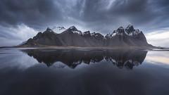 Stokksnes (Raúl Podadera Sanz) Tags: iceland mountain mountains snow reflection lanscape sea clouds longexposure islandia stokksnes dune