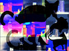 Jellicle Cats Come Out at Night 3 (soniaadammurray - On & Off) Tags: digitalphotography manipulated experimental collage abstract picmonkey cats newyork jelliclecats nighttime mystery artweekgallerygroup artchallenge exterior