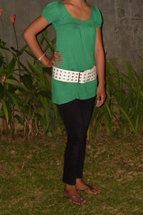 080 (ikat.bali) Tags: girl fotomodell photomodel leder leather wide widebelt amateur belt gürtel fashion fetish outfit