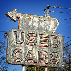 used cars (alphabet soup studio / lenore locken) Tags: ©lenorelocken signgeeks southcarolina