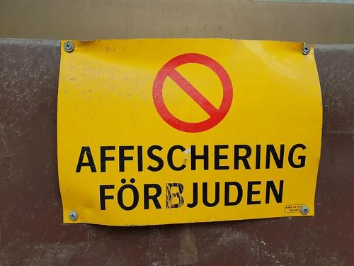 Affischering förbjuden