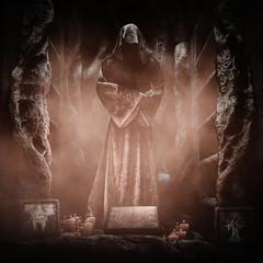 The Altar of Darkness (Stachmoon) Tags: altar darkness inner chains horror reshade screenshot monochrome worship dark digital art