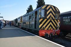 """British Railways Green Class 09/0, D4100 """"Dick Hardy"""" & Class 08, D3022 (37190 """"Dalzell"""") Tags: br britishrailways green shunter rods gronk ee englishelectric class08 class09 class090 d3022 13022 08015 d4100 dickhardy 09012 svr severnvalleyrailway dieselgala kidderminster"""