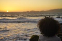 DSC03188 (manolosavi) Tags: zeiss sonnar 55mm california sanfrancisco bakerbeach outside nature sea beach sand sony alpha a7 a7ii sky sunset people girl
