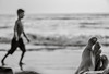 Walk or Rest (MashrikFaiyaz) Tags: sea water sky ocean beach flickrunitedaward nikon d5300 asia southasia bangladesh coxsbazar monochrome blackandwhite street people conceptual exploration tourism travel landscape outdoor natural light sunlight boy legs original winter december