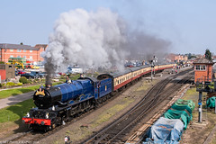 6023 at Kidderminster 21.04.2018 (Wolfie2man) Tags: steamlocomotive kidderminster blueking greatwesternrailway gwr severnvalleyrailway steamtrain steamengine kingedwardii 6023