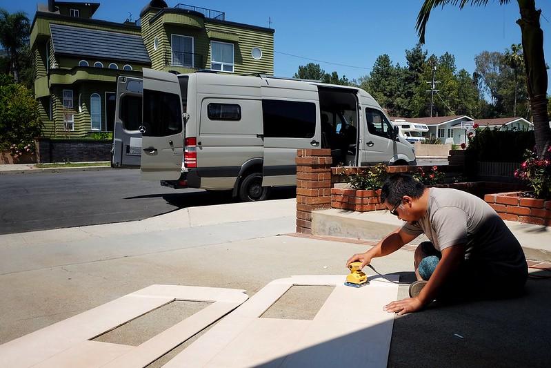 Sprinter Van Build Day 17 042518