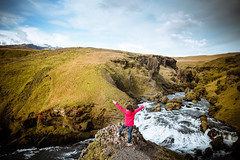 Iceland (Zeeyolq Photography) Tags: iceland adventure landscape beautyinnature nature woman mountains sky hiking world suðurland islande is