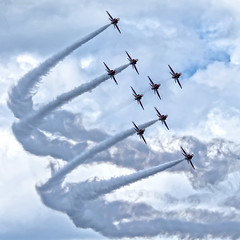 The RAF Red Arrows ..... whoooooosh !! (Tony Baldwinson) Tags: raf redarrows airshows aircraft aviation uk sunderland nikond7100 nikonafs80400