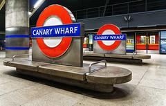 Canary Wharf Tube Station (branestawm2002) Tags: tube underground rail subway train london transport station modern concrete bold wide cavern urban