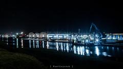 Shoreham Port (amipal) Tags: 175mm england lowlight manuallens night southwick sussex uk unitedkingdom voigtlander water boat lights reflections port dock