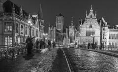 Gante-Blanco-y-Negro (Fotoencuadre Miguel Alvarez) Tags: gante ghent calanes canals blancoynegro whiteandblack belgica belgium flandes calle