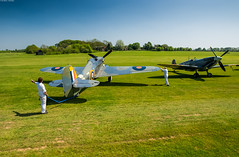 Let's Go. (Alan Habbick Photography.) Tags: theshuttleworthcollection oldwardenairfield flyingday spitfire hurricane